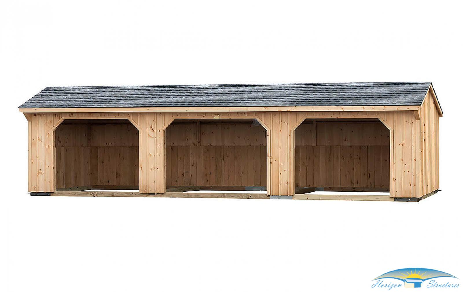 12x36 Run In Shed - Pewter Gray Shingles