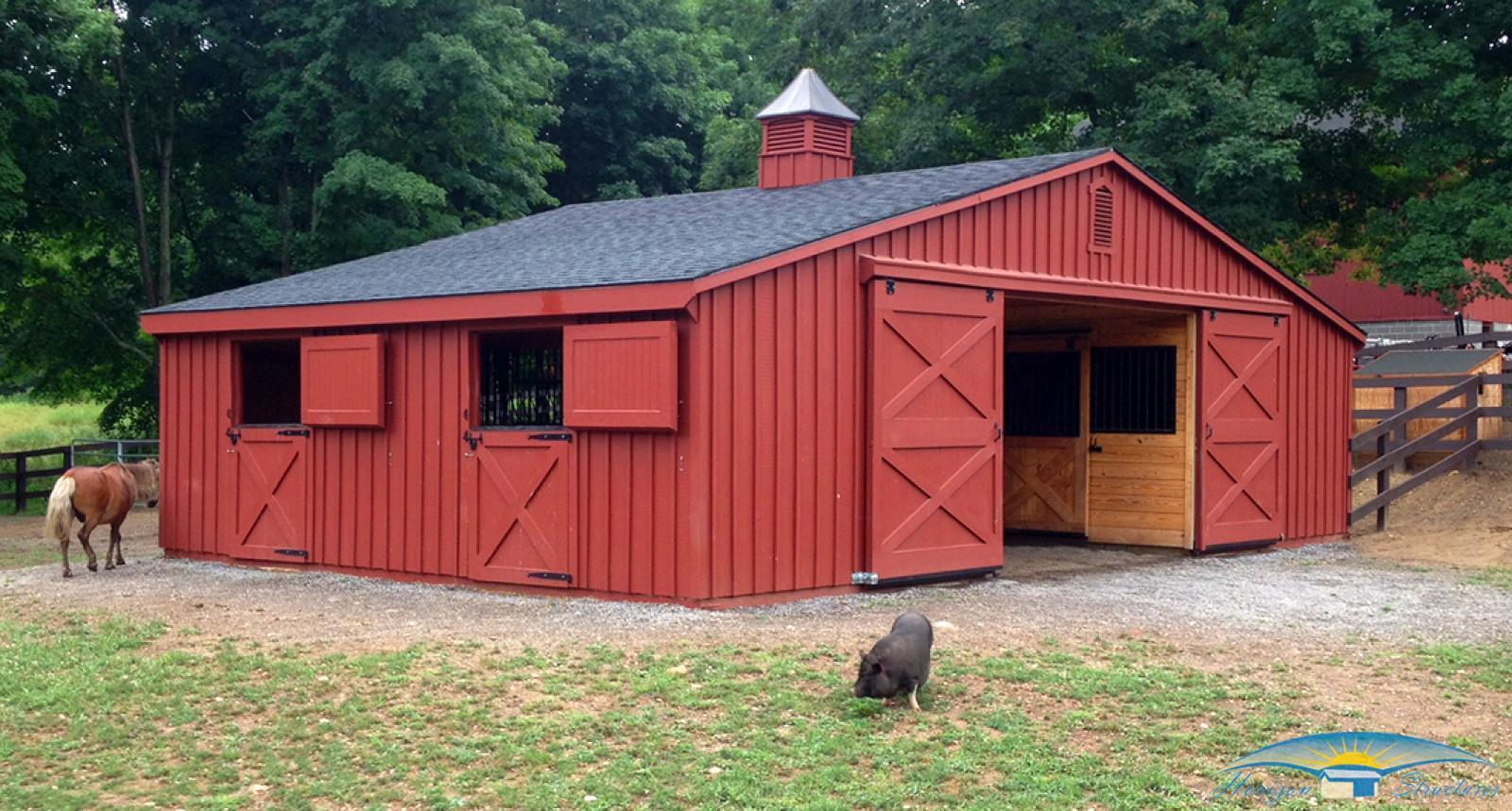 low profile modular barn