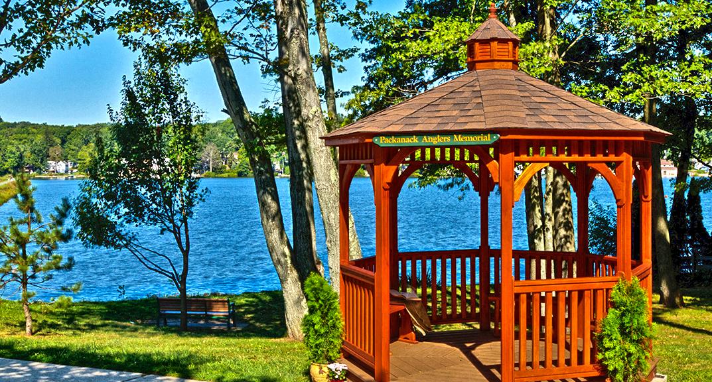 outdoor-living-gazebo-octogonal-10-foot-wood-with-cupola-at-packanack-anglers-memorial-park