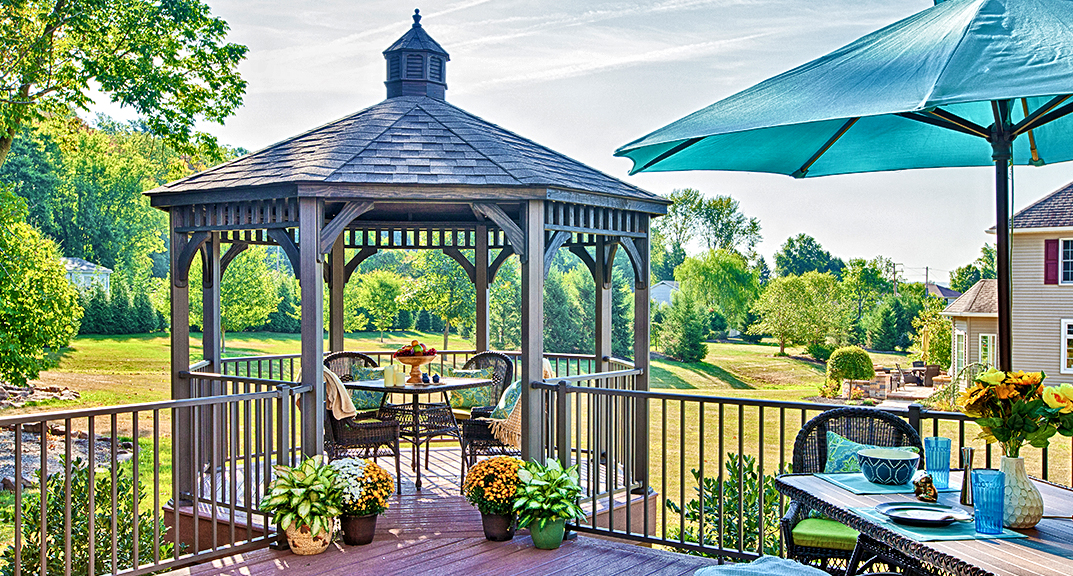 outdoor-living-gazebo-octogonal-wood-with-cupola-built-into-deck