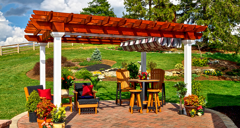 outdoor-living-pergola-artisan-wood-with-ezshade-canopy-2