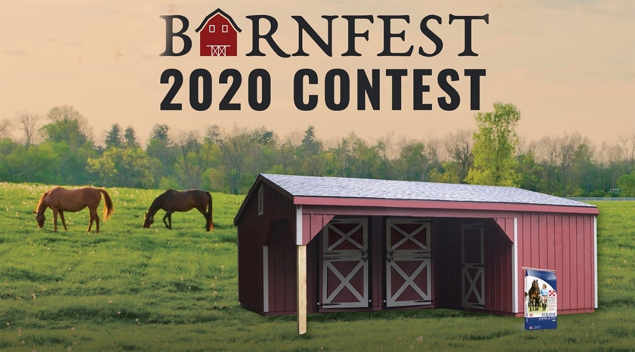 Barnfest 2020 Contest Free Horse Barn Giveaway