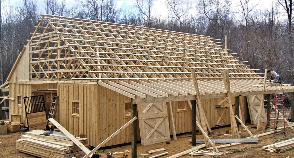 Horse Barn Trusses Complete