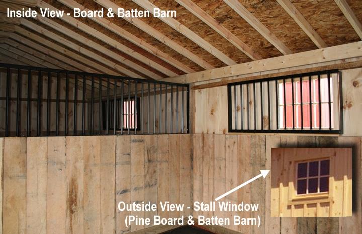 Inside Board & Batten Barn