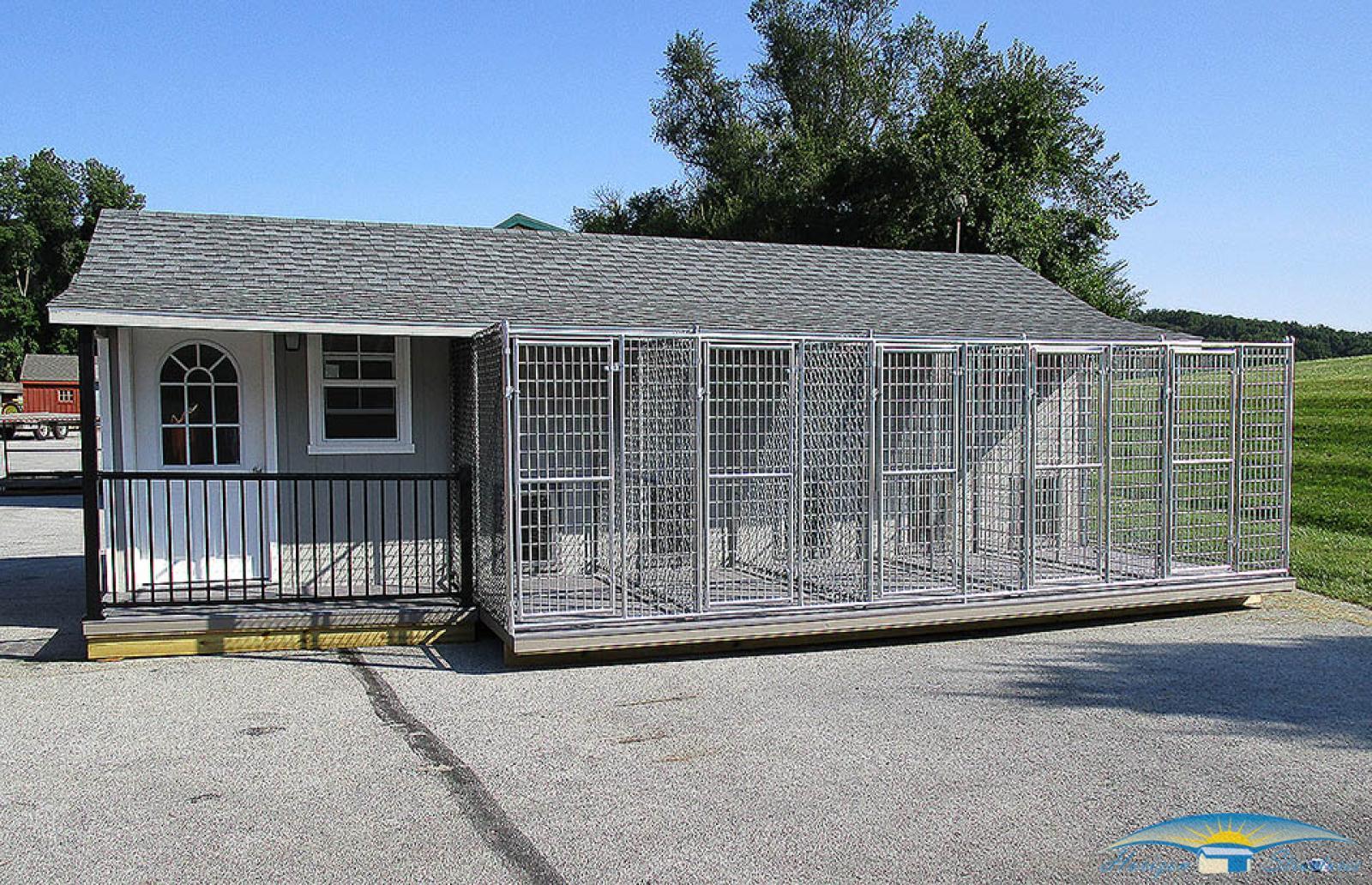 10x28 5-dog kennel exterior1