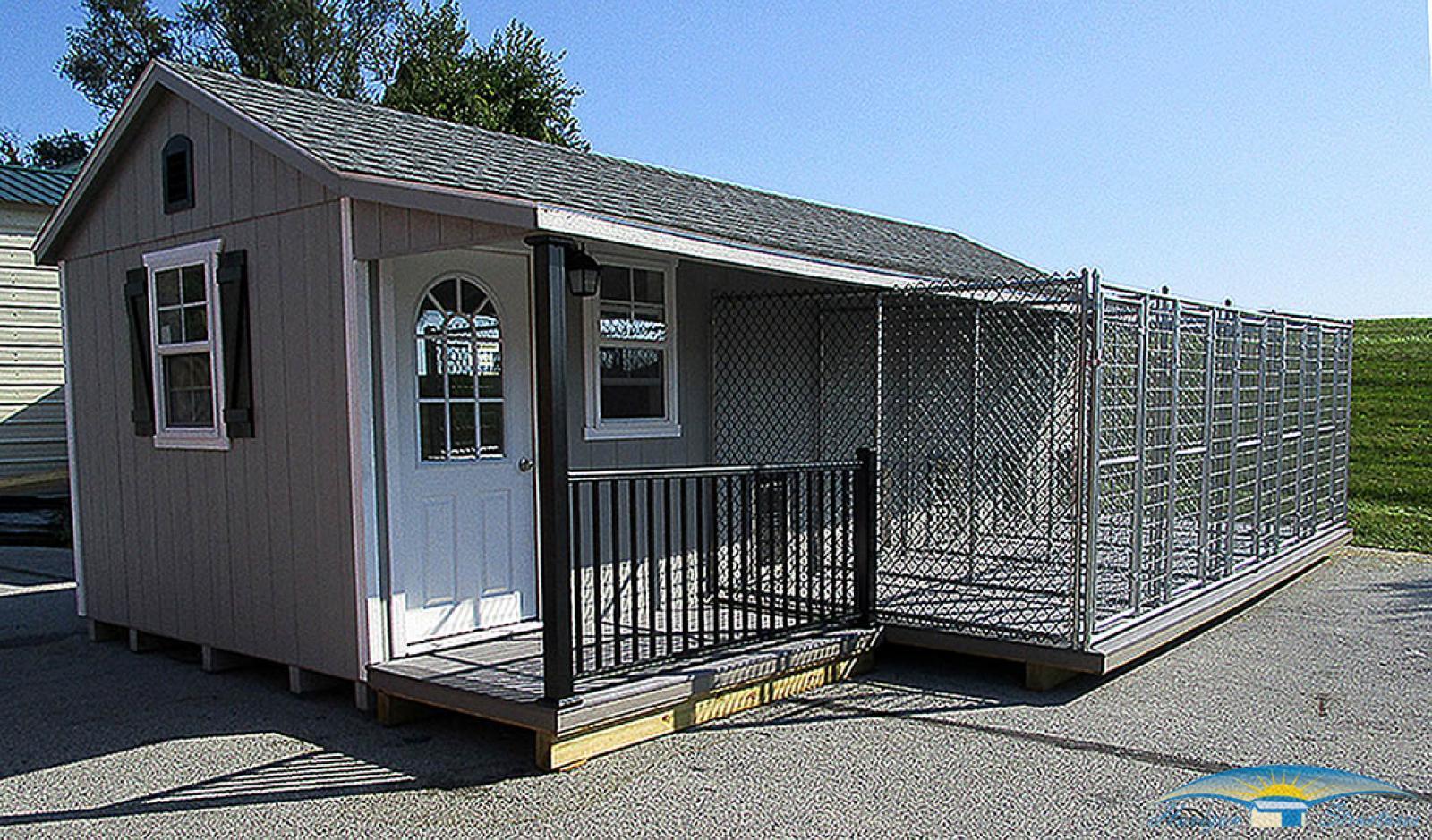 10x28 5-dog kennel exterior2