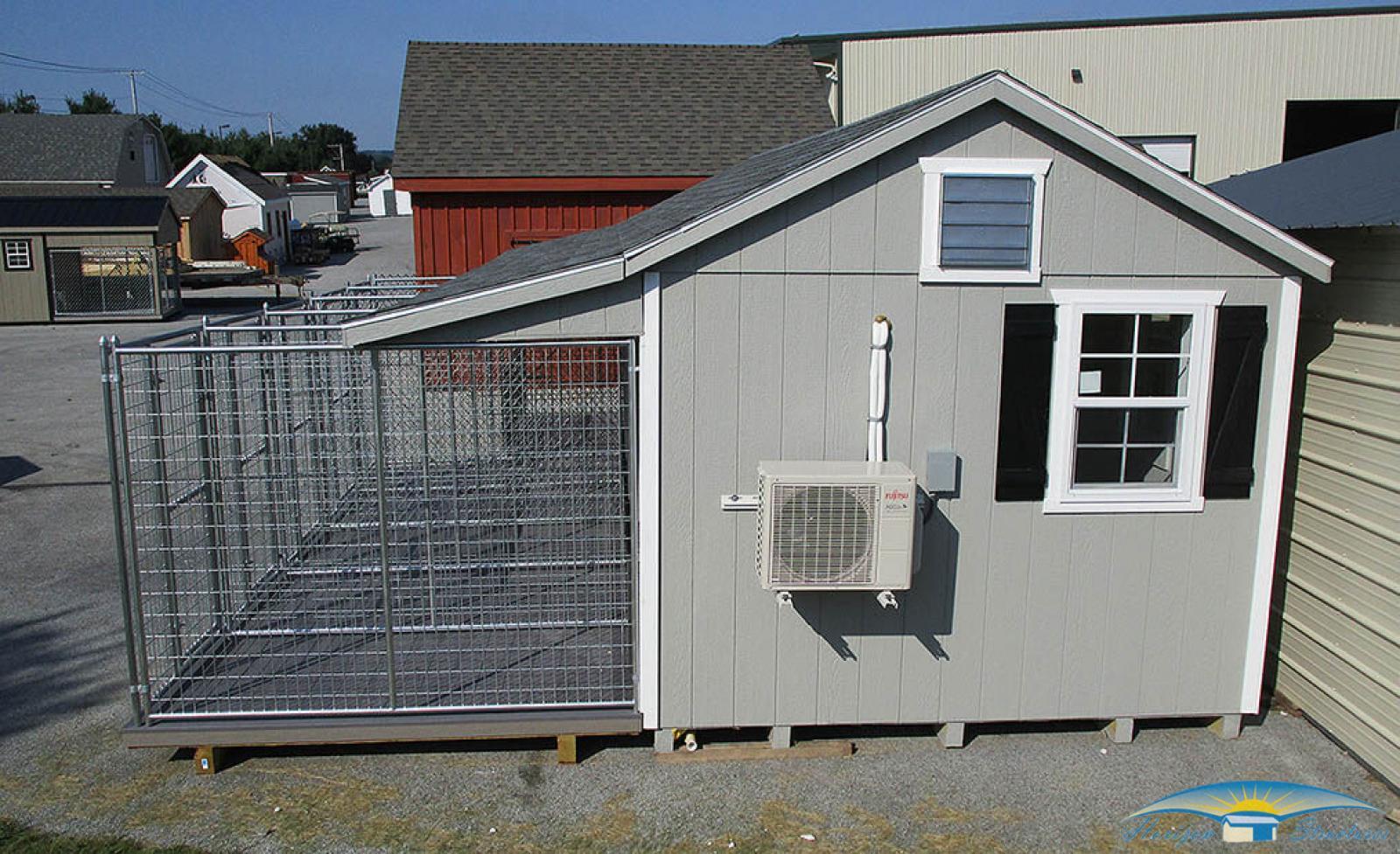 10x28 5-dog kennel exterior4
