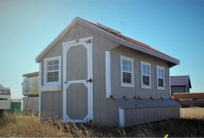 7×12 Quaker – Weather Gray Shingles – $10,175 – Located in WY!
