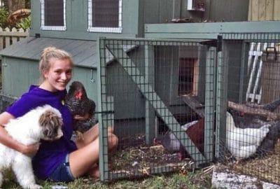 One of Horizon's happy chicken coop customers