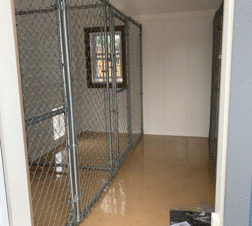 12x24 Kennel Interior blue