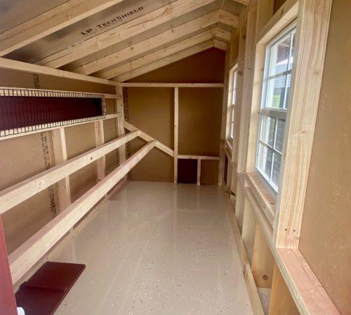 4x8 red quaker interior